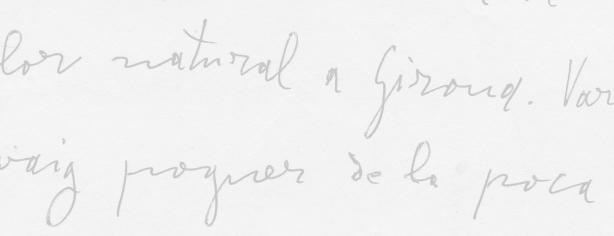 Pàgina manuscrita de Carles Fages de Climent