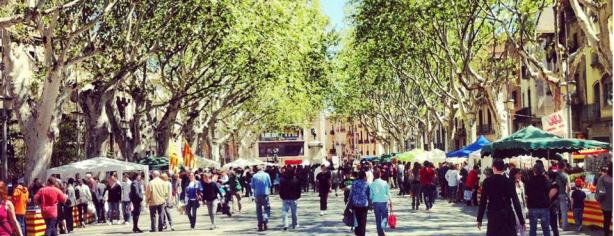 Diada De Sant Jordi A Figueres