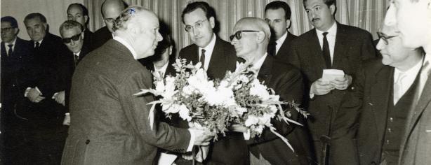 Als Jocs Florals de Figueres de 1964, on Fages hi obté la Flor Natural