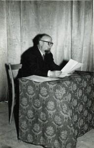 Acte acadèmic a Figueres, a la dècada de 1950