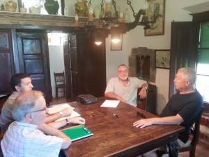 Jordi Pla, Jordi Canet, Joan Ferrerós i Narcís Garolera a la Casa Fages de Climent de Castelló