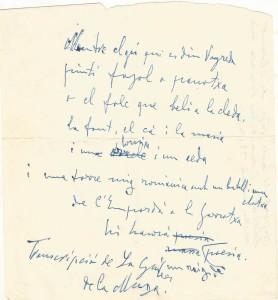 Poema original de  Fages de Climent escrit a l'Astoria