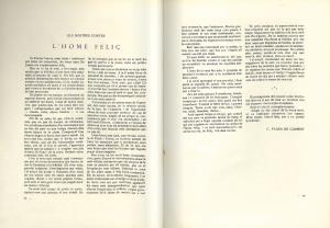 Reproducció de les pàgines amb el conte de Fages de Climent