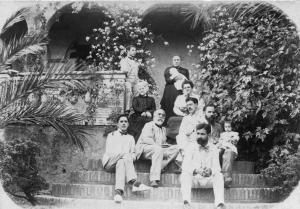 Els germans Fages de Climent, pare i oncles del poeta, al Mas Palol