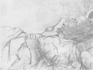 Joan Sibecas, Retrat de Carles Fages de Climent difunt